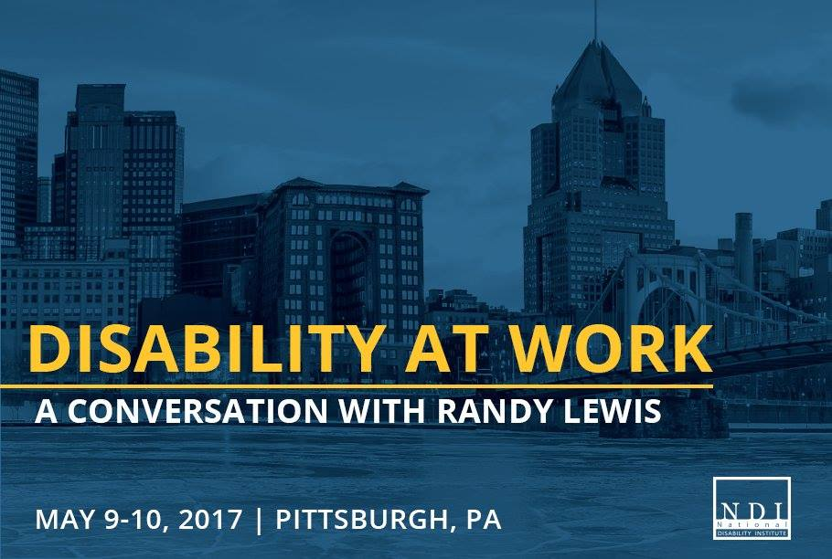 disability at work a conversation with Randy Lewis image with city in the background