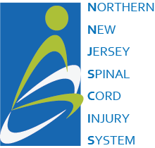 Northern New Jersey Spinal Cord Injury System graphic logo in green and blue colors