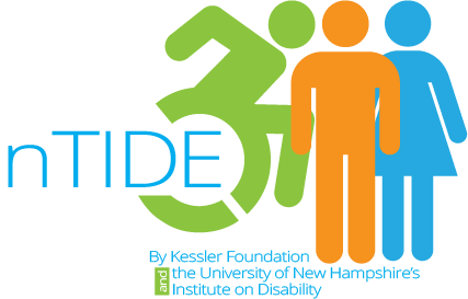 Kessler Foundation and University of New Hampshire nTIDE collaborative logo graphic image