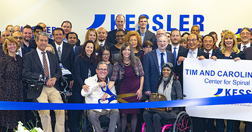 Group shot of ribbon cutting at Center for Spinal Stimulation