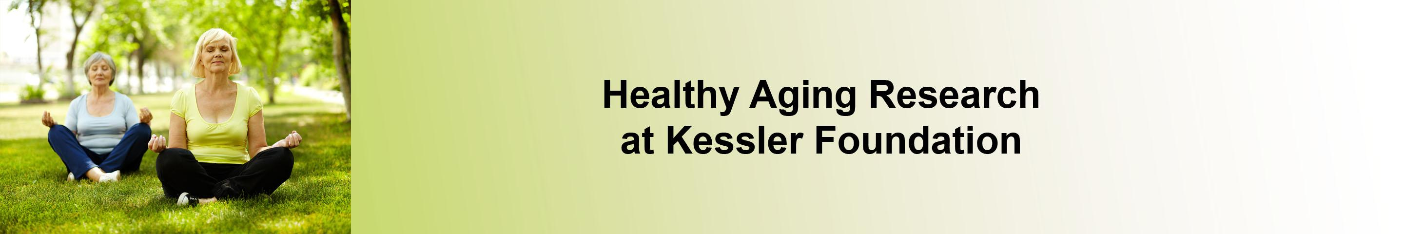 Healthy aging research banner