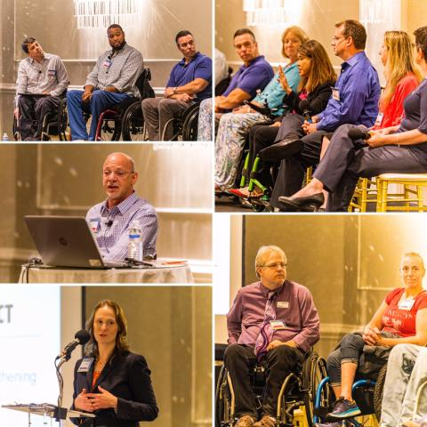 Photo collage of the spinal cord injury conference
