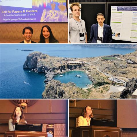 Collage of kessler scientists at conferences across the world