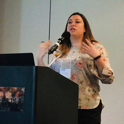 Dr. Erica Weber at Traumatic Brain Injury Consumer Conference September 27, 2019