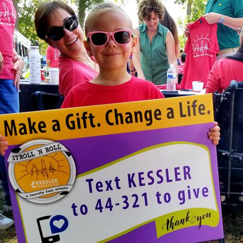 Text KESSLER to 44-321 to give