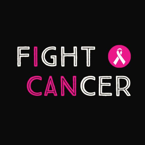 "Graphic that says ""Fight Cancer"""