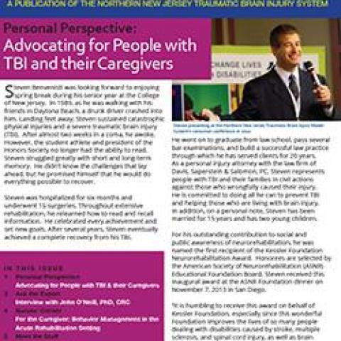 the tbi news letter cover