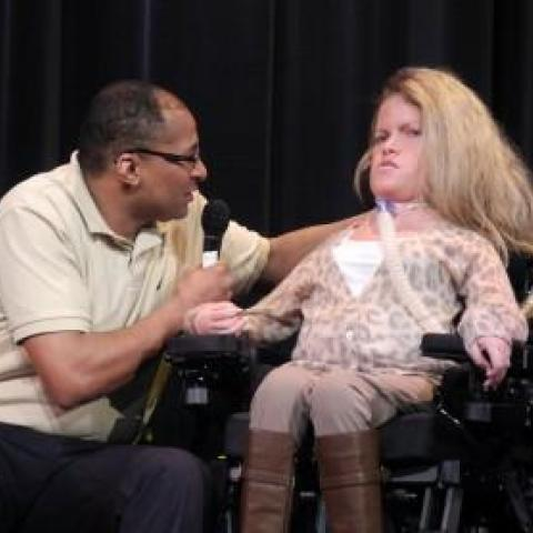 Lauren Scrivo comments on love and disability at JCC Metrowest Film Festival